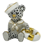 Herend Figurine Sailor Bear Black Fishnet