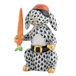 Herend Pirate Bunny Rabbit Black Fishnet