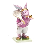 Herend Tennis Bunny Figurine Raspberry Fishnet