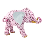 Herend Roaming Elephant Raspberry Fishnet