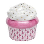 Herend Cupcake Raspberry Fishnet