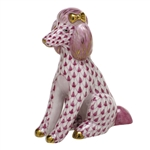 Herend Figurine Poodle Raspberry Fishnet
