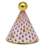 Herend Party Hat Figurine Raspberry Fishnet