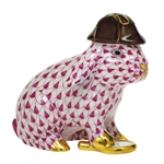 Herend Sherlock Bunny Rabbit Figurine Raspberry Fishnet