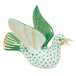 Herend Peace Dove with Branch Green Fishnet