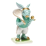 Herend Tennis Bunny Figurine Green Fishnet