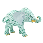 Herend Roaming Elephant Green Fishnet