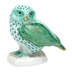 Herend Figurine Burrowing Owl Green Fishnet