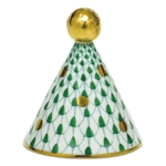 Herend Party Hat Figurine Green Fishnet