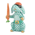 Herend Pirate Bunny Rabbit Green Fishnet