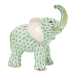 Herend Young Elephant Figurine Key Lime Fishnet