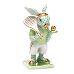 Herend Tennis Bunny Figurine Key Lime Fishnet