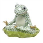 Herend Yoga Frog Figurine Key Lime Fishnet