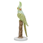 Herend Figurine Cockatiel Bird Key Lime Fishnet