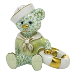 Herend Figurine Sailor Bear Key Lime Fishnet