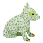 Herend Figurine English Bull Terrier Puppy Key Lime Fishnet