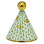 Herend Party Hat Figurine Key Lime Fishnet