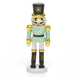 Herend Christmas Nutcracker Figurine Key Lime Fishnet
