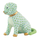 Herend Good Puppy Dog Key Lime Fishnet