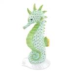 Herend Seahorse on Scallop Shell Key Lime Fishnet