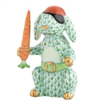 Herend Pirate Bunny Rabbit Key Lime Fishnet