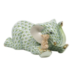 Herend Elephant and Mouse Figurine Key Lime Fishnet