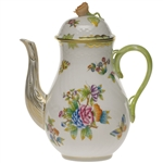 Herend Queen Victoria Coffee Pot With Rose