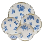 Herend Fortuna Blue Five Piece Place Setting