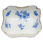 Herend Fortuna Blue Square Salad Bowl