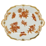Herend Fortuna Rust Square Cake Plate