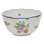 Herend Queen Victoria Blue Round Serving Bowl