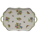 Herend Queen Victoria Blue Rectangular Tray