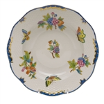 Herend Queen Victoria Blue Rim Soup Plate