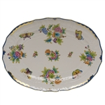 Herend Queen Victoria Blue Platter