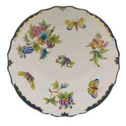 Herend Queen Victoria Blue Dinner Plate