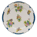 Herend Queen Victoria Blue Service Plate