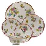 Herend Queen Victoria Pink Five Piece Place Setting