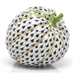 Herend Acorn Squash Figurine Black Fishnet