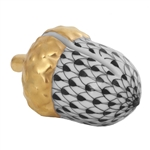 Herend Acorn Place Card Holder Black Fishnet