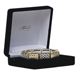 Herend 10 Link Bracelet Black and Gold