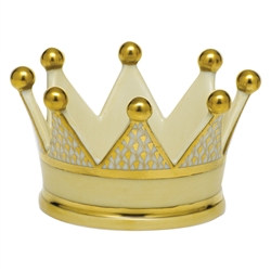 Herend Crown Figurine Gold Fishnet