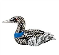 Herend Figurine Common Loon Reserve Collection