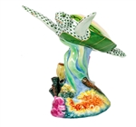 Herend Figurine Sea Turtle with Coral Reserve Collection