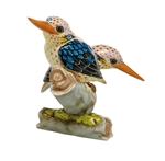 Herend Figurine Black Backed Kingfishers Reserve Collection