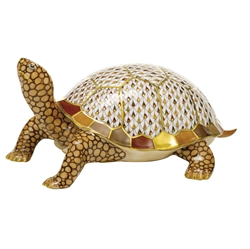 Herend Figurine Box Turtle Reserve Collection