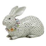 Herend Bunny Rabbit With Garland Reserve Collection