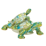 Herend Turtle Pair Multicolor Reserve Collection