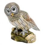 Herend Gray Barred Owl Figurine Reserve Collection