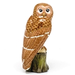 Herend Brown Barred Owl Figurine Reserve Collection