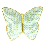 Herend Figurine Butterfly Dish Key Lime Fishnet